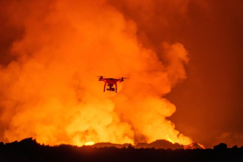 Drone-volcano