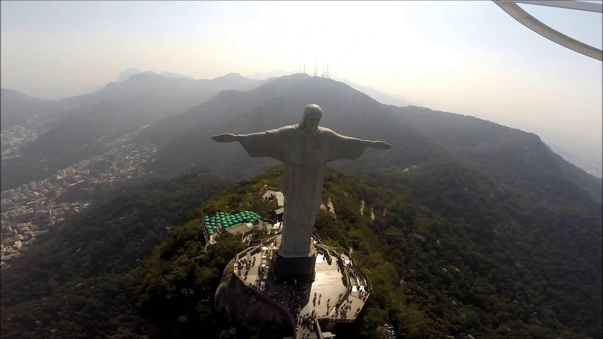Drone faz mapeamento 3D do Cristo Redentor